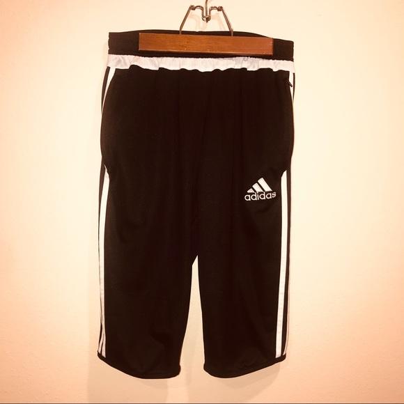 new concept ff632 58bd0 Adidas Shorts High Waisted Climacool Long Black Lg